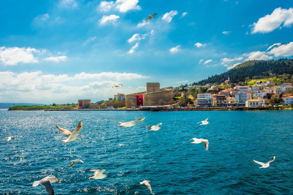 Kilitbahir,View,From,Sea.,Kilitbahir,Is,Start,Point,Of,Gallipoli