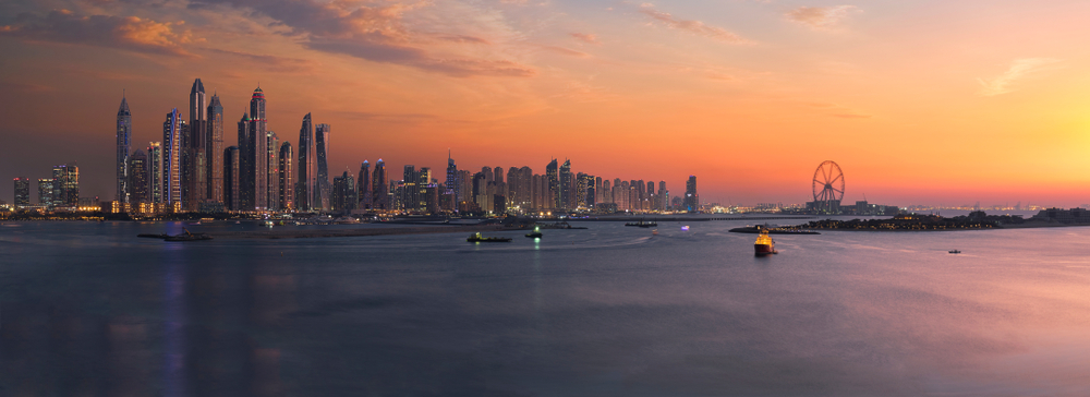 Dubai Sunset panaroma